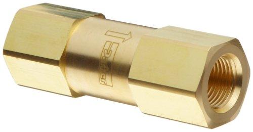 "Parker F Series Brass Instrumentation Filter, Inline, 1 Micron, 1/8"" Npt Female front-146427"