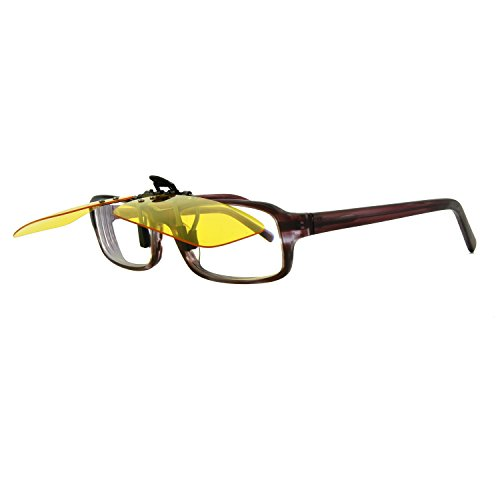 66cf7238d5 Yellow Polarized Clip On Sunglasses