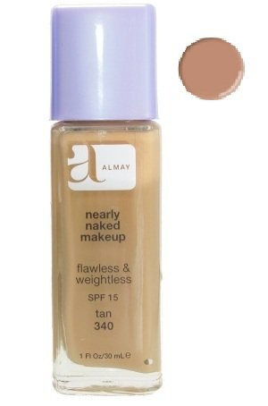 Almay Nearly Naked Makeup Flawless & Weightless SPF 15 Foundation - 340 Tan 30ml