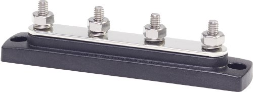 Blue Sea Systems 2303 150 Ampere Common Busbar (4 X 1/4-Inch Stud Terminal)