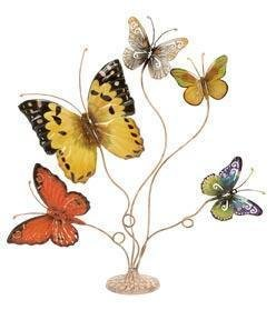 Butterfly Metal Table Decor Sculpture Home Accent Piece
