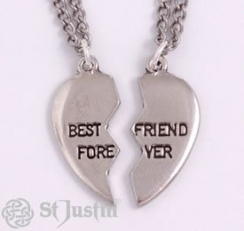 Broken heart best friend forever pendants 18