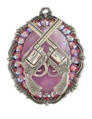 Gasoline Glamour Go Go Cowgirl Pretty Pink Rhinestone Charm Necklace