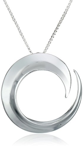 "Sterling Silver ""A Journey Is Best Measure By Friends Not Miles"" Circle Pendant Necklace, 18"""