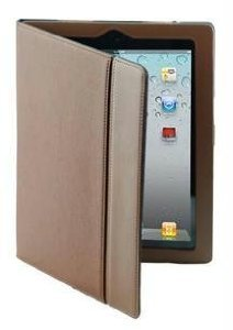 splash RAINDROP Leather Case for The New iPad 3 and iPad 2 with Glider Stylus and Masque Screen Protector - Brown (IPD3RDRPBRN)