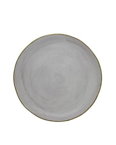 COLI 15″ Round Platter, Vanilla