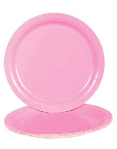Light Pink Dinner Paper Plates (25 Pc) front-915840
