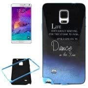 Dance on the Rain Pattern PC Frame + Synthetic Rubber Back Shell Combination Case for Samsung Galaxy Note 4 / N910