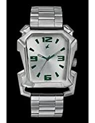 Fastrack Silver Metal Analog Watch For Men - 3131SM01
