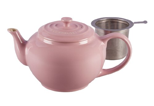 Le Creuset Stoneware Large Teapot With Stainless Steel Infuser, Pink
