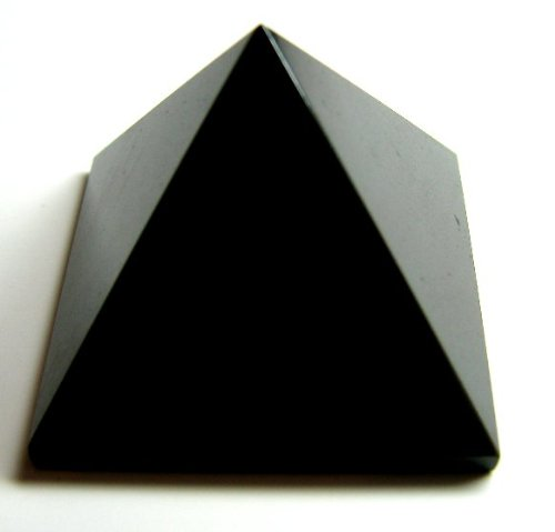 Pyramid Black Obsidian Carving Figurine 1.5inch Base