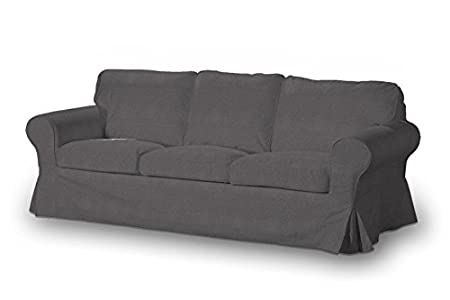 DEKORIA 610-705-35 - Copridivano 3 posti, per divano Ektorp, non letto, modello Etna, colore grigio scuro