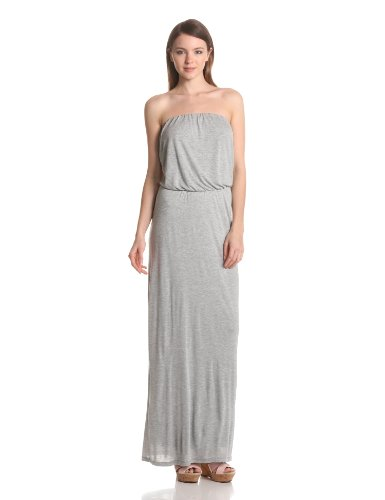 VELVET BY GRAHAM & SPENCER Women's Strapless Maxi Dress, Heather Grey, Medium