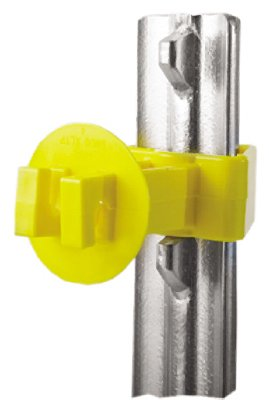 Dare Products Snug-Xlstp-25 Electric Fence Insulator, T-Post, Snug-Fit, Yellow, Extra-Long, 25-Pk. - Quantity 10