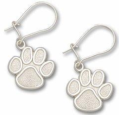 Clemson Sterling Silver Dangle Earrings