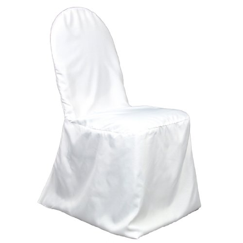 Polyester Banquet Chair Cover White