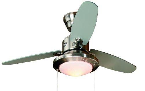 CASA BRUNO ventilatore a soffitto Merced, nichel spazzolato