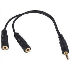 Psylins - Cable splitter para altavoces y auriculares (3,5 mm)