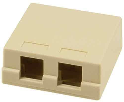 Onq / Legrand Wp3502Iv Surface Mount Box 2Port, Ivory