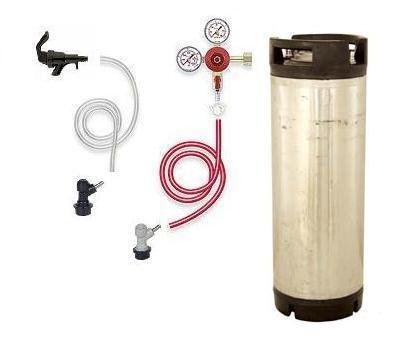 Homebrew Kegging Kit with Co2 Regulator and Keg (CO2 Tank not included)