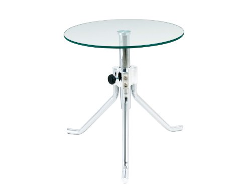 """Leitmotiv Tisch höhenverstellbar """"Lator"""" mit Glastischplatte"""