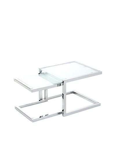 Contemporary Living Set Tavolino 2 pezzi Double Argentato