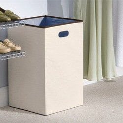 Rubbermaid 4D06 Configurations 23-Inch Foldable Laundry Hamper, Natural