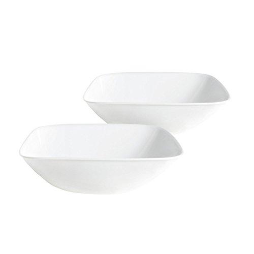 Corelle Square Bowl Bulk Pack Pure White (2 Pack), Pure White (Corelle Dinner Set Square compare prices)