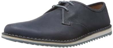 Clarks Maxim Flow, Chaussures à lacets homme - Bleu (Navy Nubuck), 39.5