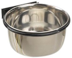 ProSelect Stainless Steel Pet Cage Coop Cup, 8-Ounce