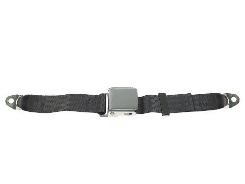 Lap Seat Belt, Chrome Lift Latch, 60 Inch (Many Colors), Tan front-827059