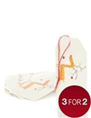 6 Fun Stags & Robins Christmas Gift Tags