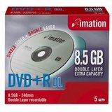 Imation 22902 - IMATION DVD+R D/L 8.5GB 8X 5PK JC