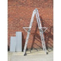 4.75M MULTI PURPOSE LADDER-2 FREE SHELVES & 2 PLATFORMS VINSANI