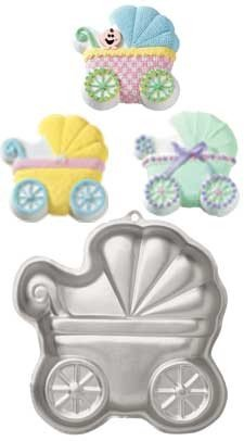 Novelty Cake Pan-Baby Buggy 11.25x11.25x2 (Baby Buggy Pan compare prices)