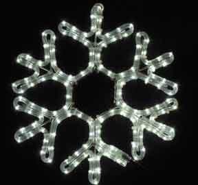 "Novelty Lights, Inc. Led-Sf-151 Christmas Led Rope Light Snowflake, Pure White, 15"" X 15"", Heavy Duty Metal Frame"