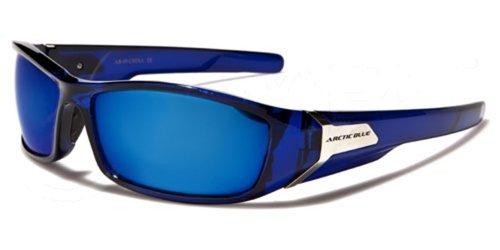 ArcticBlue-Lunettes-de-Soleil-Sport-Cyclisme-Ski-Conduite-Motard-Plage-Mod-Kite-Bleu-Cristal-Miroir-Taille-Unique-Adulte-Protection-100-UV400