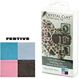 Crystal Clay 2-Part Epoxy Clay Kit - Festive Color Mix 100g
