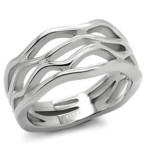 RIGHT HAND RING - Free Form Ring in High Polished Stainless Steel
