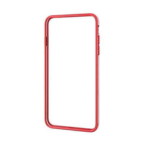 ELECOM iPhone6 Plus ハイブリッドバンパー レッド PM-A14LHVBRD