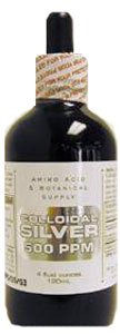 Amino Acid & Botanical Supply Liquid Colloidal Silver -- 4 fl oz