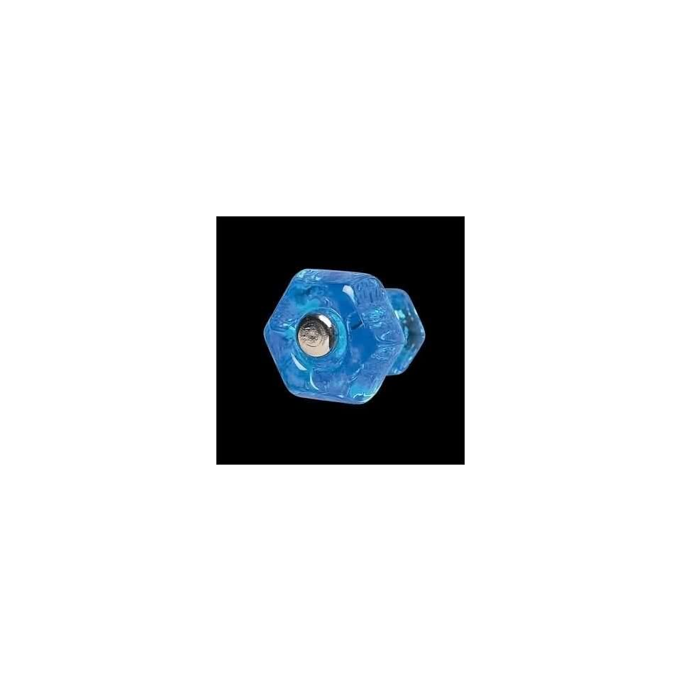 Cabinet Knobs Peacock Blue Glass, 1 in. diameter Cabinet Knob