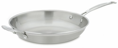Cuisinart Multiclad Pro Stainless 12-Inch Skillet with Helper