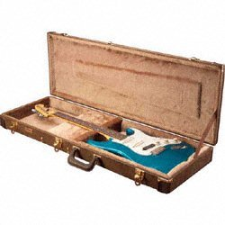 Gator Deluxe Wood Case for Electric Guitars - Vintage Brown Exterior