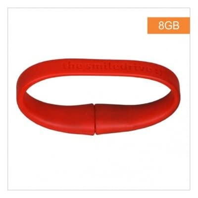 Superfast USB 3.0 - 8 GB Wristband Pen Drive - Red