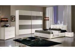 Chambre Adulte Design Dossone Coloris Blanc Et Fango Laque L160 X P200 Cm Jnhrcwua 38