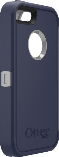 Special Sale OtterBox Defender Series Case for iPhone 5S - Retail Packaging - Blue/Gray