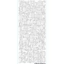 Sticko Stickers Alphabet Large Foam White