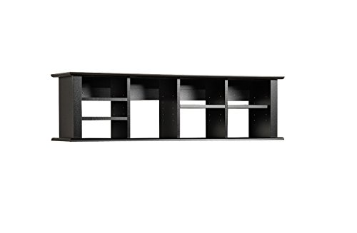 New Home Office Furniture Desk Black Wall Mounted Desk Hutch | eBay