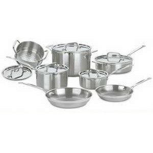 Cuisinart MCP-12 MultiClad Pro Stainless Steel 12-Piece Cookware Set